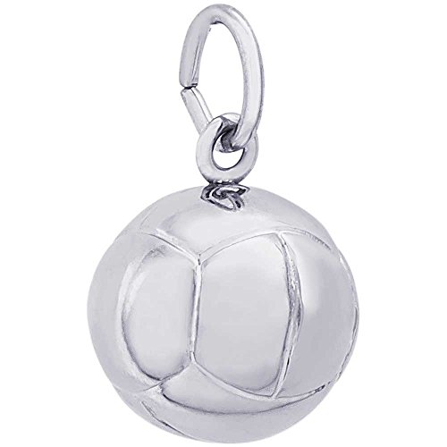 Gold 14k Charm Volleyball (Rembrandt Charms Volleyball Charm, 14K White Gold)