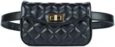 Womens Elegant Fanny Pack, Cute Leather Belt Purse, Retro Waist Cell Phone Bag, Trendy Designer Belt Bag, Stylish Travel Waist Pack, Modern Small Waist Bag, Cool Hip Bag with Belt (Gift idea)