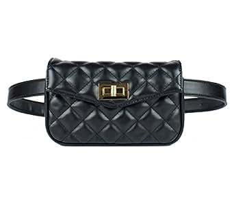 Womens Elegant Fanny Pack Cute Waist Pouch Stylish Travel Waist Purse Black