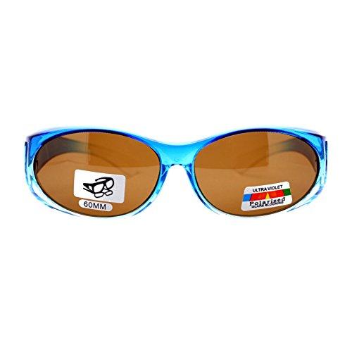 No Glare Polarized Oval Shape Ombre Fitover Sunglasses - For Sunglasses Shape Oval