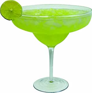 Extra Large Giant Cinco De Mayo Margarita Glass - 33oz (970ml) - Fits about 3 typical margaritas!