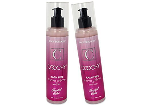 [Coochy Rash Free FROSTED CAKE Shave Creme Water Based Shave Cream and Moisturizer - Size 8 Oz (Pack of 2)] (Frosted Cream)