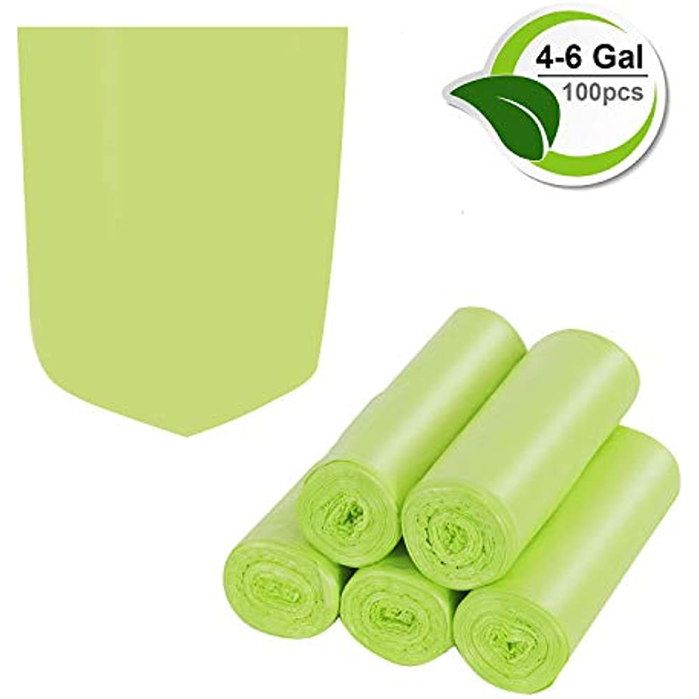 Portable Toilet Replacement Bags 100/% Biodegradable Compostable 4-6 Gal,100Count