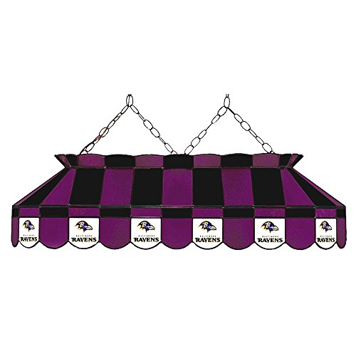 Imperial Billiards IMP-18-1025 Baltimore Ravens NFL Billiards Stained Glass Lamp, 40 in. by Imperial