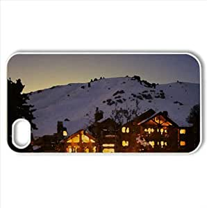 Mountain Motel Watercolor style Cover iPhone 4 and 4S Case (Mountains Watercolor style Cover iPhone 4 and 4S Case)