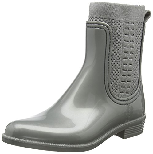 Tommy Boot Hilfiger Rain Tommy Knit Gummistiefel Damen Shiny EwPCYqxY