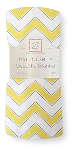 SwaddleDesigns Marquisette Swaddling Blanket Premium