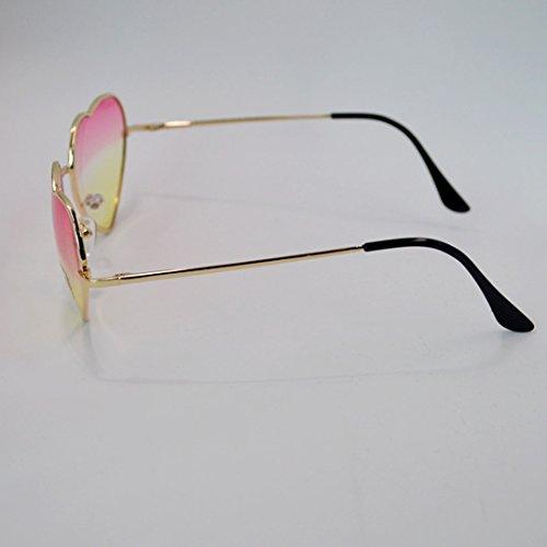 en Hommes couleur de Rose monture soleil dégradé lunettes de en soleil forme de coeur millya métal Lunettes Lunettes Sxq6wSB