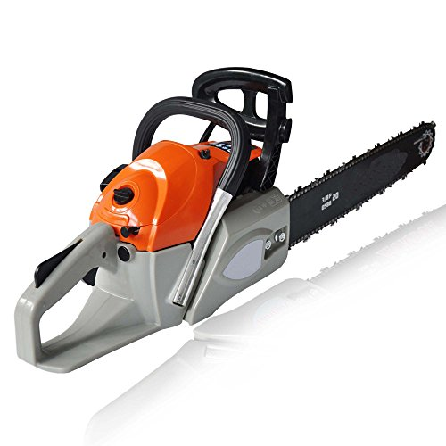 Utheing Chain Saw 20'' 2 Stroke 4.2HP Gas Powered with Smart Start, Super Air Filter System, Automatic Carburetor and Tool Kit (62cc) by Utheing