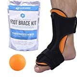 Plantar Fasciitis Night Splint Arch Support - Healing Wonders Foot Brace Kit [With Massage Ball] Pain Night Splints and Tendon Stretcher for Planter Fascitis, Achilles Tendonitis, Heel Spur Relief