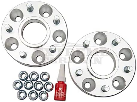 RED ROCK 1.5 Wheel Spacers Aluminum Secure Fit 5x4.5 Bolt Pattern for 4x4 Jeep Wrangler YJ /& TJ 1987-2006