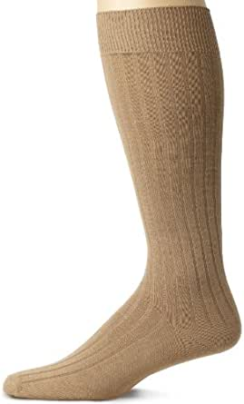 IZOD Men's 3 Pair Per Pack Signature Over The Calf Rib Socks, Khaki, Large