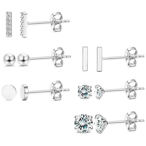 LOYALLOOK Sterling Silver Earrings Zirconia product image