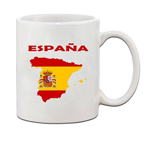 Spain Espana Flag Country Ceramic Coffee Tea Mug Cup - Holiday Christmas Hanukkah Gift for Men & Women by Speedy Pros