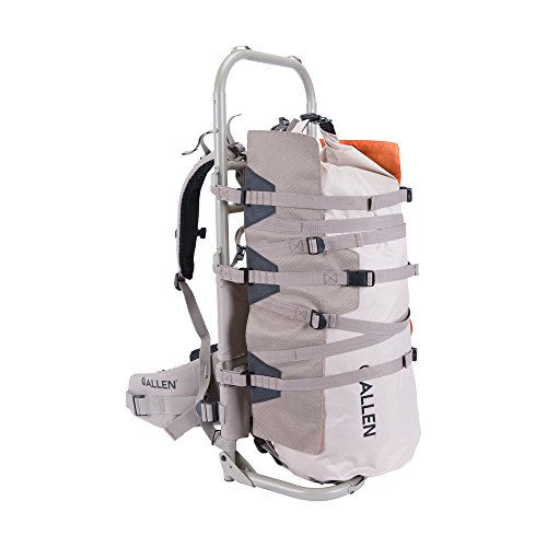 Allen Rock Canyon CP External Hunting Pack Frame with 50L Dry Bag, Tan/Blaze