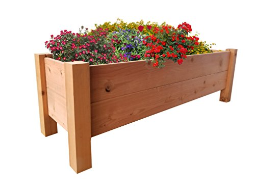 GroGardens 1' x 4' x 16'' Redwood Elevated Garden Bed by GroGardens