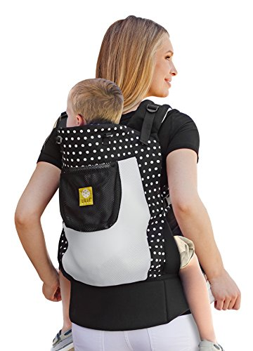 LILLEbaby 3 in 1 CarryOn Toddler Carrier - Air - Spot on Black (Toddler Air)