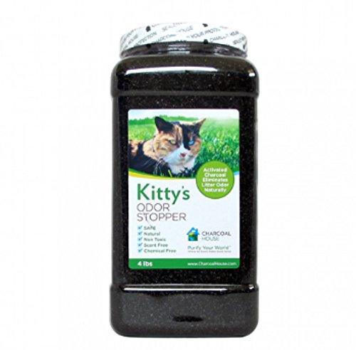 Kitty's Odor Stopper -4lbs - Eliminates cat litter box odors, Non-Toxic, Child Safe, Scent Free - Activated Charcoal Granular (Granular Cat Litter)