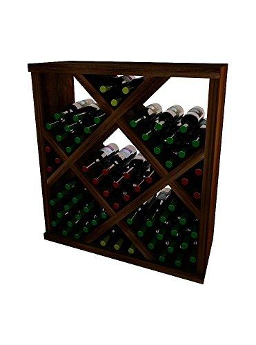 3 Series Vintner - Vintner Series Wine Rack - Diamond Bin with Face Trim - 3 Ft - Premium Redwood with Dark Walnut Stain
