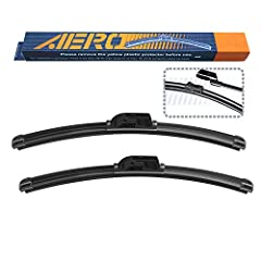 Each purchase includes 2 genuine AERO premium all-season soft wiper blades. The AERO wiper is patented using top quality materials and passed strict QC testings. This product offers all the quality and durability of the major brand names, but...