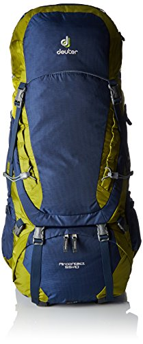 Deuter Aircontact 55 + 10 Trekking Backpack, Midnight / Moss