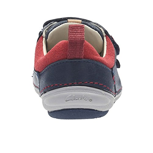 Clarks Softly Toby Fst Boys First Shoes 4 F Navy