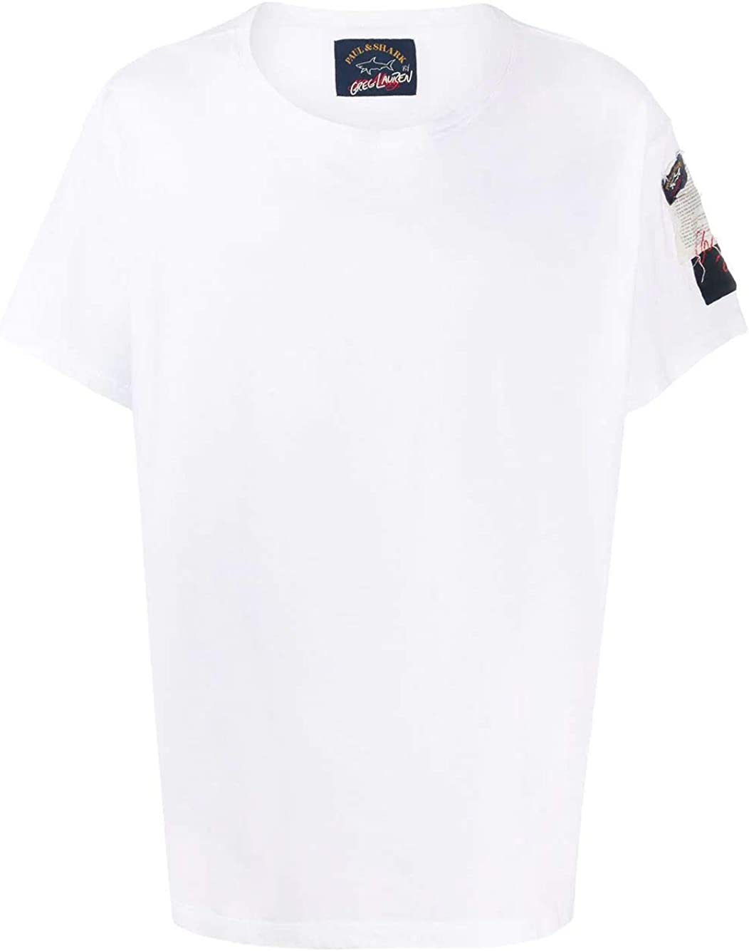 PAUL & SHARK Luxury Fashion Man E20P1464WHITE White Cotton T-Shirt   Spring Summer 20