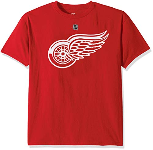 (Outerstuff NHL NHL Detroit Red Wings Kids & Youth Boys Primary Logo Basic Short Sleeve Tee, Red, Youth Medium(10-12))