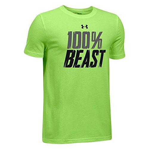 Under Armour HeatGear Youth Boys' All Beast Short Sleeve Loose Tee Green X-Large
