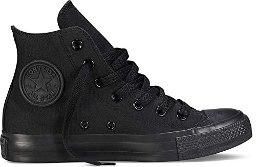 Converse Unisex Chuck Taylor All Star High Top Sneakers (5.5 D(M) US, Black Monochrome) from Converse