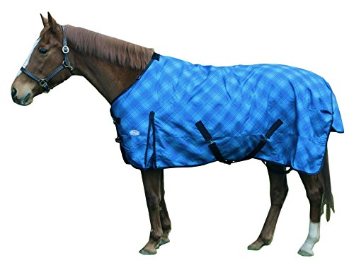 - Derby Originals 1200D Ice Blue Plaid Winter Horse Turnout Blanket, 69