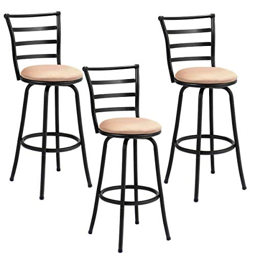 Cool Amazon Com 3 Pack Steel Frame Modern Barstool Pub Chairs Alphanode Cool Chair Designs And Ideas Alphanodeonline