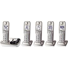 Panasonic KX-TGD225N DECT 6.0 Expandable Digital Cordless Answering System, 5 Handsets