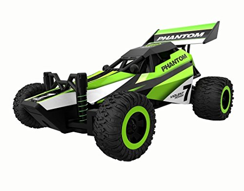 SainSmart Jr. RC Buggy 1:32 Racing Car 2.4Ghz 2WD High Speed Remote Control Truck, Christmas Gift for Kids from 6 years old, Green