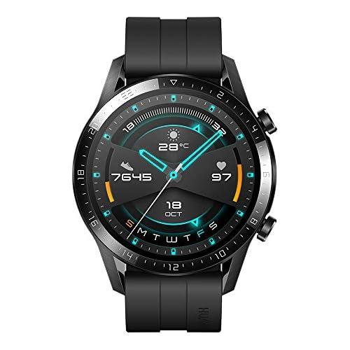 chollos oferta descuentos barato Huawei Watch GT2 Sport Smartwatch con Caja de 46 Mm Hasta 2 Semanas de Batería Pantalla Táctil Amoled de 1 39 GPS 15 Modos Deportivos Llamadas Bluetooth Negro Mate