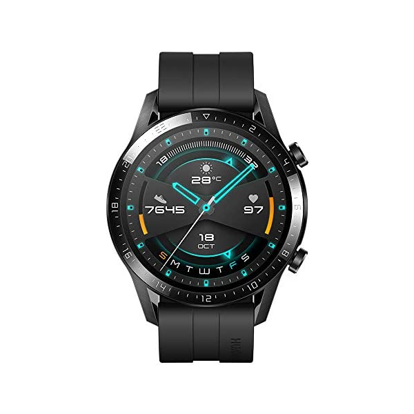 HUAWEI Watch GT 2 Sport (Matte Black, 46mm, 2 Weeks Battery, Music Playback, Answer Calls (with Phone Connection), 5ATM…