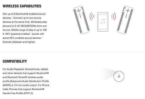 Ultimate Ears MEGABOOM Lava Red Wireless Mobile Bluetooth Speaker (Waterproof and Shockproof) by Ultimate Ears (Image #5)