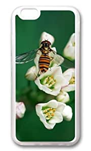 MOKSHOP Adorable Hornets pick flowers Soft Case Protective Shell Cell Phone Cover For Apple Iphone 6 Plus (5.5 Inch) - TPU Transparent
