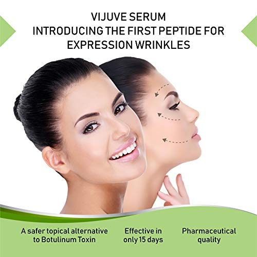 41PxN5nPUkL - VIJUVE 45% Vitamin C Serum with Double Hyaluronic Acid and Collagen Peptides for Face, Eyes, Neck and Chest - Bio-Boosted Anti Aging Skin Care for Dark Spots, Wrinkles, Tightening and Even Tone, 1oz.