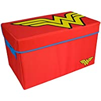 Wonder Woman Toy Chest by Everything Mary | DC Comics Collapsible Organizer Bin for Bedrooms, Closet Storage, Children Toy Box, Nursery Storage | Store Stuffed Animals, Games, Clothes, Shoes