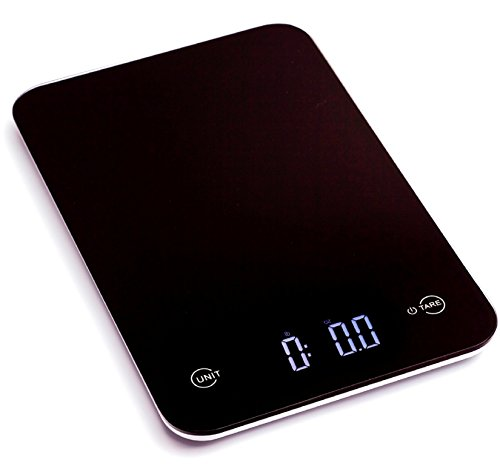 Ozeri Touch Professional Digital Kitchen Scale (12 lbs Edition), Tempered Glass in Elegant Black
