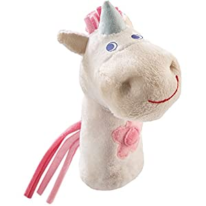 HABA Finger Puppet Mini Unicorn for Ages 18 Months and Up