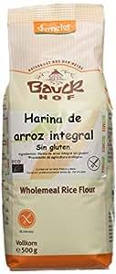 Bauckhof harina de arroz integral, pack de 2 (2 x 500 g bolsas) - Bio