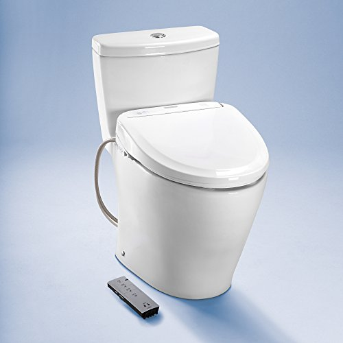 TOTO SW584#01 350e WASHLET Electronic Bidet Toilet Seat with Auto Open and Close and ewater+ Sanitization, Elongated, Cotton White