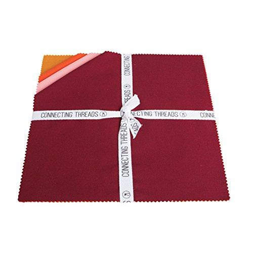 - Connecting Threads Color Wheel Premium Precut Fabric Bundle (Warm Sunset 10
