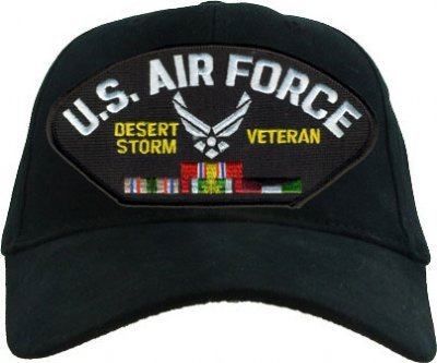 EAGLE CREST US Air Force Desert Storm Veteran with Ribbons Cap