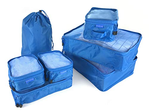 7 pcs Compression Packing Cubes for Travel, Laundry