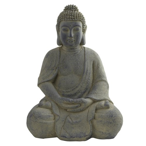 Nearly Natural 4984 Indoor Outdoor Buddha Statue, Gray