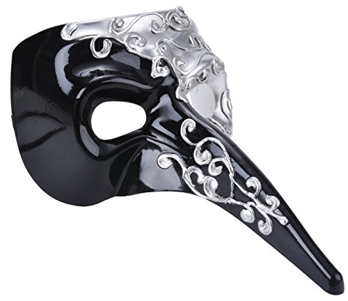 [Venetian Masquerade Mask Drama Ball Long Nose Mask Joker Party Mask] (The Joker Masquerade Costume)