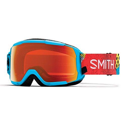 Smith Grom Masque de Ski Mixte Enfant, Cyan Burnside